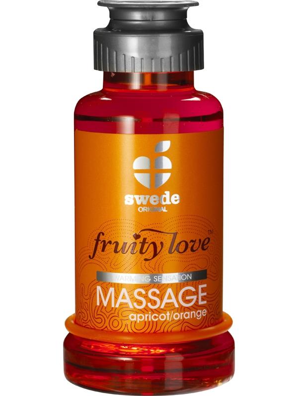 Swede Fruity Love - Värmande Massageolja Aprikos/Apelsin (100 ml)