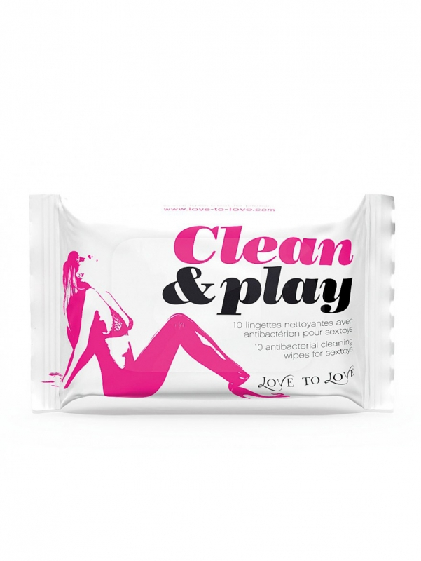 Love to Love - Clean & Play - Rengöringsservetter (10-pack)