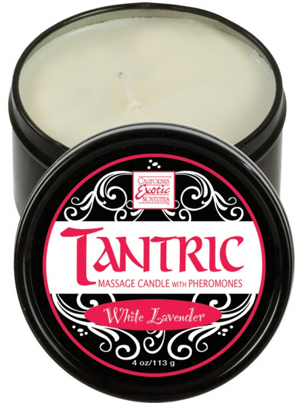 California Exotic - Tantric Massageljus - Vit Lavendel