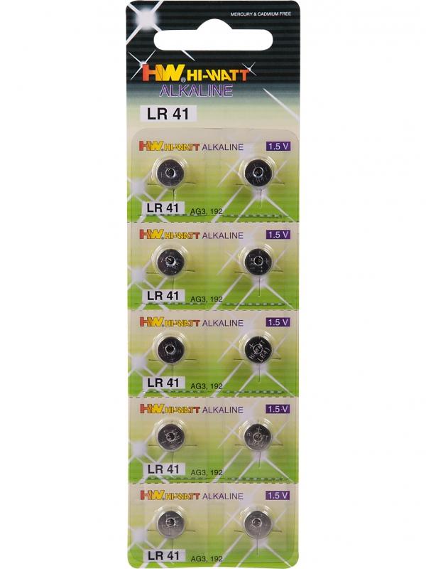 Knappcellsbatteri LR41 (10-pack)
