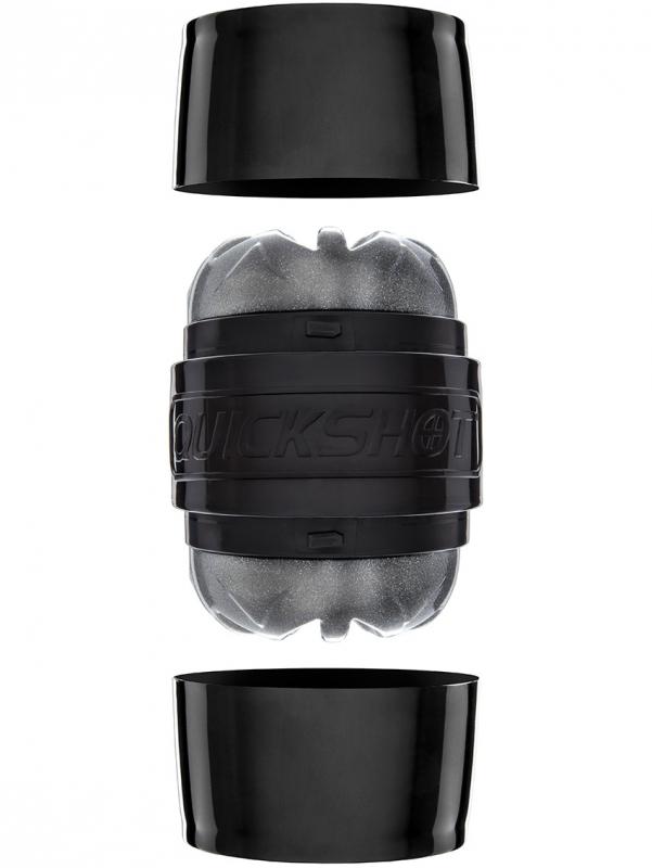 Fleshlight - Quickshot Masturbator (silver/svart)