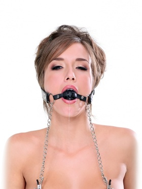 Pipedream Fetish Fantasy - Deluxe Ball Gag and Nipple Clamps