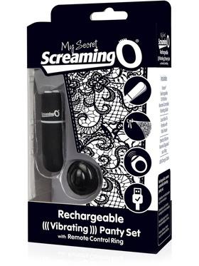 Screaming O - Rechargeable Vibrating Panty Set (svart)