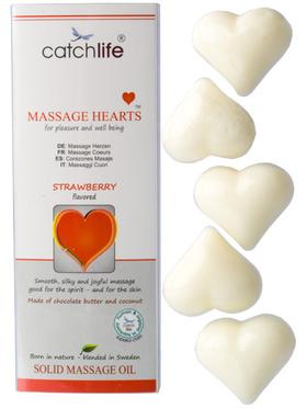 Massage Hearts - Jordgubb