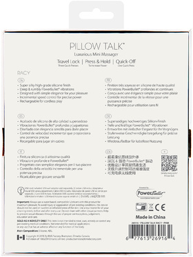 Pillow Talk - Racy, Minivibrator för G-punkten (rosa)