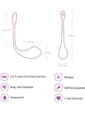 Lovense - Lush 2.0 Wearable Bullet Vibrator