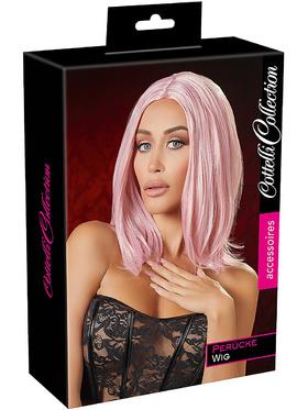 Cottelli Collection - Peruk med Bobfrisyr (rosa)