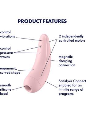 Satisfyer - Curvy 2+ Lufttrycksvibrator (rosa)