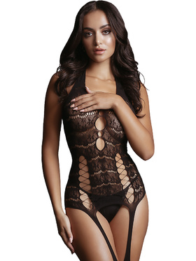 Le Désir - Opaque Suspender Bodystocking (One Size)