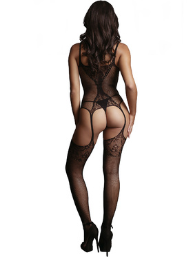 Le Désir - Fishnet and Lace Bodystocking (One Size)